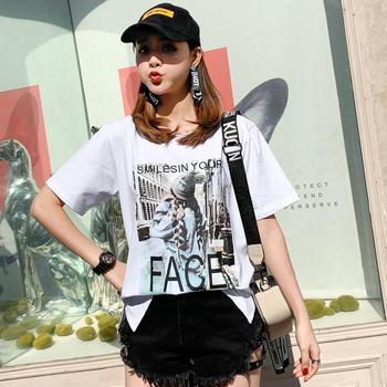 新款韩版女装JQ1927休闲套头短袖t简约上衣圆领T恤