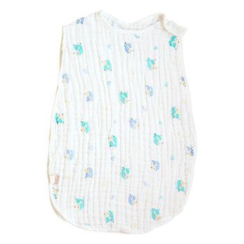 意嬰堡六層紗布無袖背心小刺猬睡袋  透氣舒適