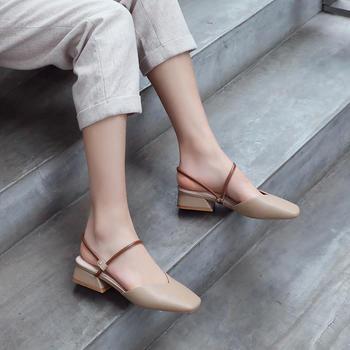 2019新款仙女风中跟粗跟玛丽珍单鞋包头网红百搭凉鞋