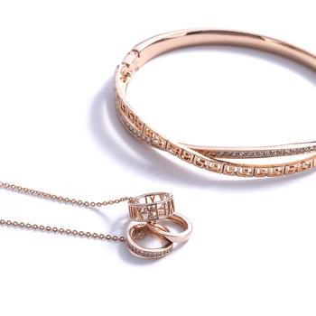 Croc時尚百搭個性氣質鎖骨鏈手鐲套裝組合手飾項飾80015
