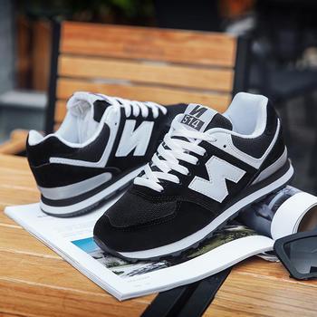 New Barlun纽巴伦春季男女运动鞋N字网面软底撞色增高