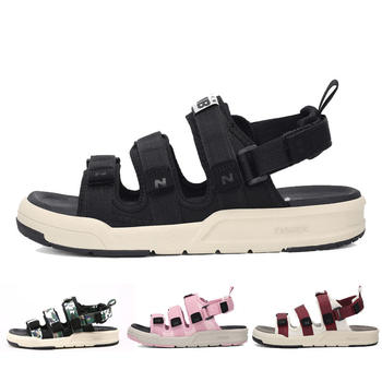 New Barlun纽巴伦夏季男女运动鞋N字凉鞋厚底防滑沙滩鞋