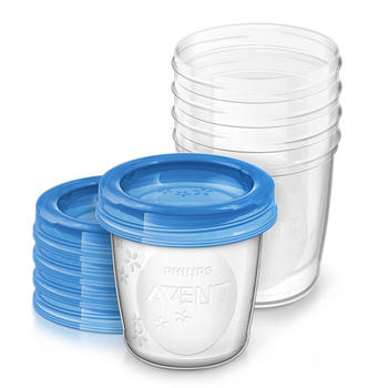飞利浦新安怡储奶杯母乳保鲜储存杯套装便携式密封辅