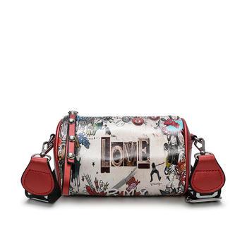 宾尼兔韩版潮流彩绘女包枕头包包斜挎小包