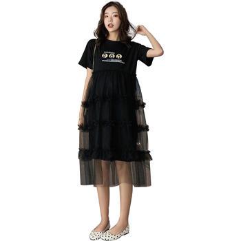 欧丽妈咪孕妇连衣裙超仙网纱蛋糕裙宽松大码时尚潮妈