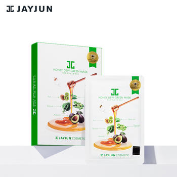 JAYJUN捷俊绿蔬蜂蜜面膜5片韩国补水保湿