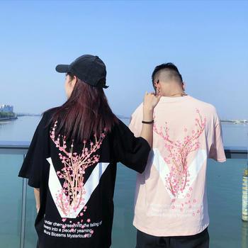 情侣装夏装五?#20013;?#22269;潮嘻哈oversize短袖T恤