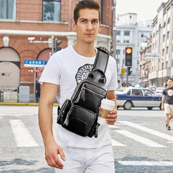 斐格胸包休闲单肩包潮牌男士包包多功能背包