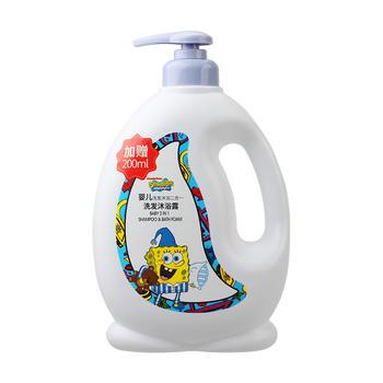 海绵宝宝 婴儿洗发水沐浴二合一800ml限期21.08特价