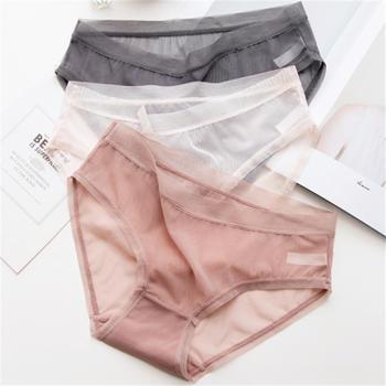 GREATMAISTER 3条装 无痕网纱性感蕾丝低腰女士内裤