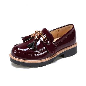 Pinkii-苹绮春秋女童小皮鞋甜美公主鞋儿童小跟单鞋