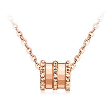 今上珠宝925银镀金小蛮腰玫瑰金项链女款套链锁骨链女
