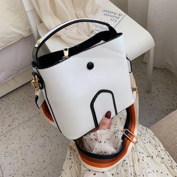 INME新款女士大容量水桶包韩版时尚百搭单肩斜跨大包