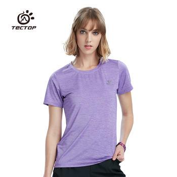 探拓 户外运动速干衣圆领短袖T恤女款