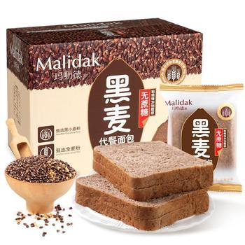 玛呖德无蔗糖黑麦代餐面包500g整箱