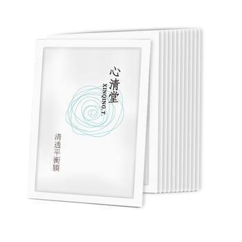 心清堂清透平衡膜10片/盒清爽控油收缩毛孔面膜贴