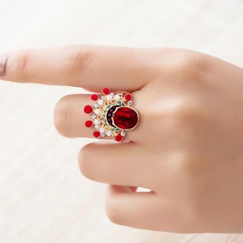 卡洛美飾品 中國民族風刀馬旦戒指女設計感開口指環