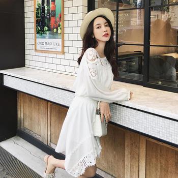 张大奕韩版蕾丝不规则裙时尚休闲套装女小清新两件套