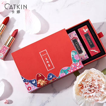 CATKIN卡婷长相思·点绛唇口红四支装母亲节520礼盒(电话确认色号)