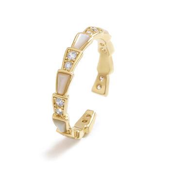 CROCUS美杜莎靈蛇開口戒指時尚創意蛇鱗百搭指環3586