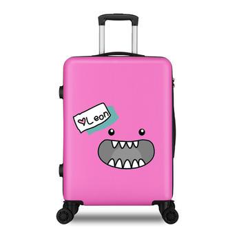 萨兰丹迪创意印花表情万向轮拉杆箱学生行李箱