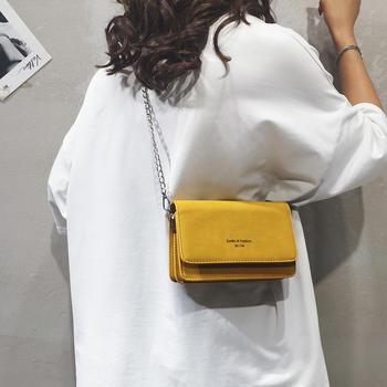 宾尼兔韩版新款简约小方包单肩包时尚链条女包