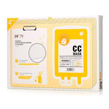 PF79维C面膜补水保湿提亮晒后修护 三部曲清洁面膜4片