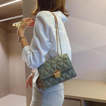 雅诗罗韩版新款时尚女包链条包包百搭单肩小方包