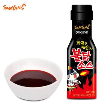 韩国三养鸡肉味调味酱200g瓶巨辣火鸡面辣椒酱拌面酱