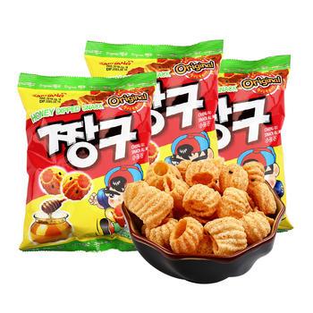 韩国三养SAMYANG蜂蜜味圈圈脆休闲零食115g*3袋膨化食品