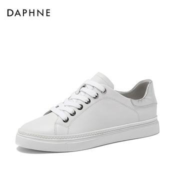 Daphne/达芙妮春季深口平底圆头小白鞋女1018101031