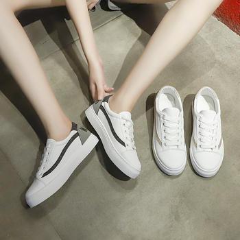 蝶恋霏秋季新款百搭平底板鞋舒适小白鞋