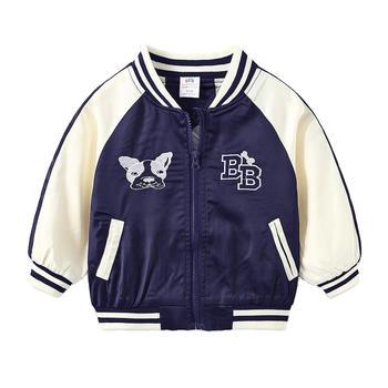 贝壳元素字母棒球服秋装男童童装拉链外套wt9558