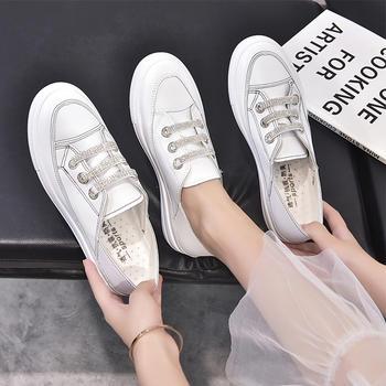 Tatyana韩版新款两穿舒适平底小白鞋女