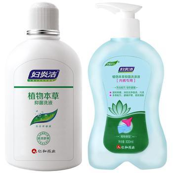 妇炎洁 植物本草洗液380ml+洗涤液300ml 清洁私密护理
