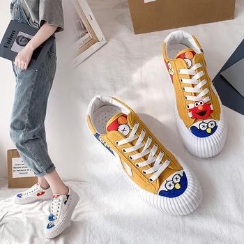 Tatyana鞋子女学生韩版时尚系带帆布鞋女