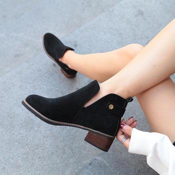 蝶恋霏冬季新款时尚百搭切尔西靴舒适低跟单靴
