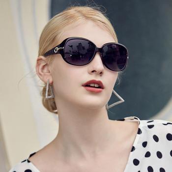 威古氏太阳镜女个性复古圆脸偏光墨镜女时尚眼镜