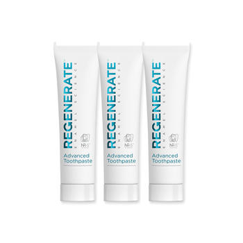 法国进口 Regenerate修护牙釉质美白牙膏 75ml+75ml+75ml