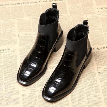 新款复古chic网红小跟踝靴英伦风韩版学生加绒靴子