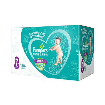 Pampers帮宝适超薄干爽拉拉裤大号L120片