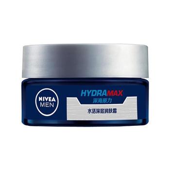 Nivea/妮维雅男士水活深层润肤霜深层滋润抗干补水保湿