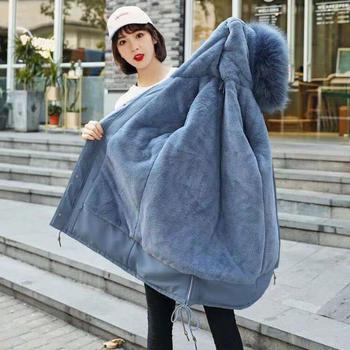 中长款加厚韩版收腰2020冬装新款加绒棉服防寒服外套