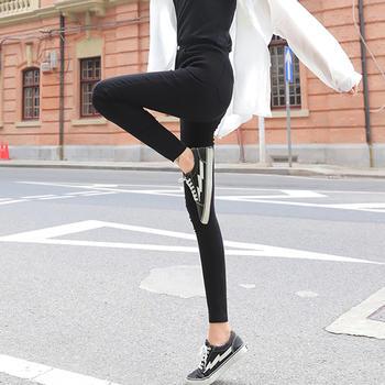 黑色紧身打底裤女外穿长裤春秋薄款显瘦百搭铅笔裤