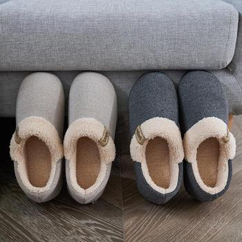 远港秋冬季全包跟棉拖鞋女家居男情侣室内厚底防滑