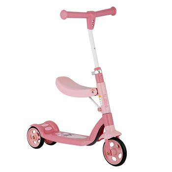 HD小龙哈彼可坐可站儿童滑板车溜溜车二合一合适3~6岁