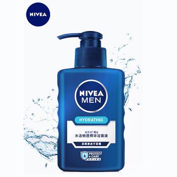 妮维雅男士水活畅透精华洁面液150g保湿补水深层清洁