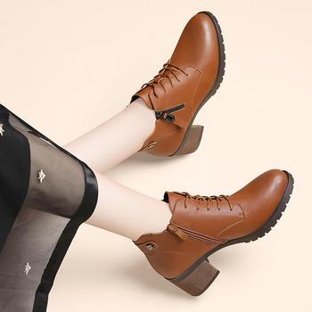 马丁鞋新款短筒秋冬粗跟短靴女鞋