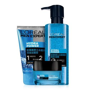 欧莱雅男士水能玻尿酸高保湿护肤套装