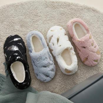 远港包跟棉拖鞋女秋冬季室内情侣居家保暖毛绒棉鞋